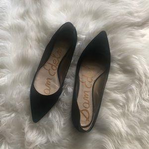 Sam Edleman Black Pointed Toe Flats Sz 9